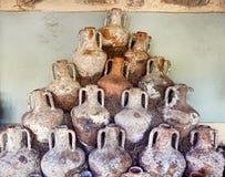 Potenciômetros antigos no castelo de Bodrum Imagem de Stock Royalty Free