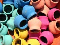 Potenciômetros coloridos Foto de Stock