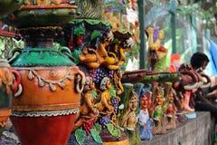 Potenciômetros coloridos fotografia de stock royalty free