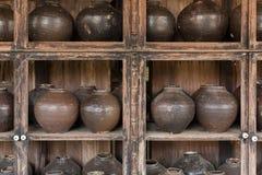 Potenciômetros de argila antigos Fotografia de Stock Royalty Free
