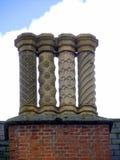 Potenciômetros de chaminé decorados vitorianos Imagem de Stock