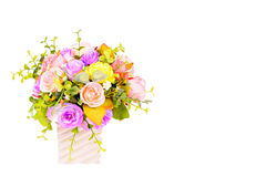 Potenciômetros de flor plásticos Imagem de Stock Royalty Free