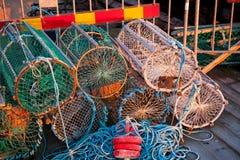 Potenciômetros do caranguejo e de lagosta fotografia de stock