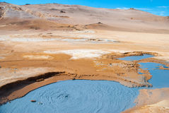 Potenciômetros naturais da lama, Islândia Imagem de Stock Royalty Free