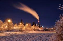 Potencia ártica en la noche en el invierno Imagen de archivo