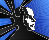 Potencia azul de la mente Foto de archivo libre de regalías