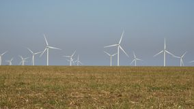 Potencia de Eco, turbinas de viento almacen de video