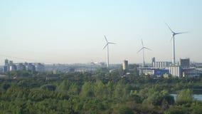 Potencia de Eco Turbinas de viento que generan electricidad metrajes