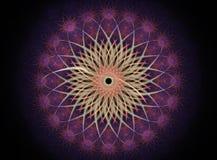 Potencia de flor de la mandala Fotografía de archivo