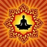 Potencia de la yoga stock de ilustración