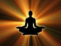 Potencia de la yoga Imagenes de archivo