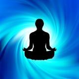 Potencia de la yoga - meditación. EPS 8 ilustración del vector