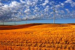 Potencia del molino de viento Imagen de archivo libre de regalías