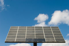 Potencia del panel de las células solares Fotografía de archivo libre de regalías