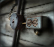 Potencia e interruptor Foto de archivo