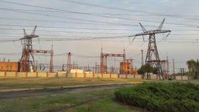 potencia Línea eléctrica eléctrica Imagen de archivo libre de regalías