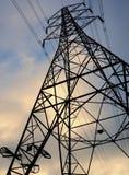 Potencia nacional de la red del pilón de la electricidad Imagen de archivo libre de regalías
