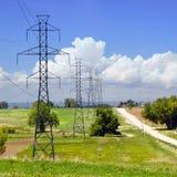 Potencia postes grande en Colorado rural, los E.E.U.U. Fotografía de archivo libre de regalías