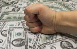 Potencia a través del dinero Fotografía de archivo