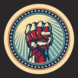 Potencia y concepto de la protesta. Imagen de archivo