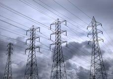 Potencia y tormenta en azul Imagen de archivo