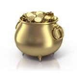 Potenciômetro de ouro Fotografia de Stock Royalty Free