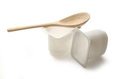 Potenciômetros do iogurte Fotografia de Stock Royalty Free