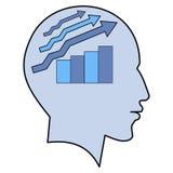 Potencjalnego pomysłu mężczyzna głowy wykresu mózg ludzki pojęcie Obraz Stock
