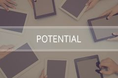 POTENTIAL CONCEPT Business Concept. Business Concept Stock Photo
