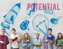 Potential Ideas Creativity Imagination Light Bulb Concept Stock Images