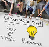 Potential Performance Capacity Motivation Skill Concept Stock Image