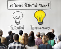 Potential Performance Capacity Motivation Skill Concept Royalty Free Stock Photos