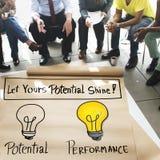 Potential Performance Capacity Motivation Skill Concept Royalty Free Stock Photos