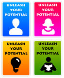Potential. Unleashing your potential and getting successful Royalty Free Stock Images