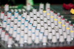 Potentiometers knobs Stock Image