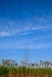 Potenza ad alta tensione elettrica Fotografia Stock Libera da Diritti