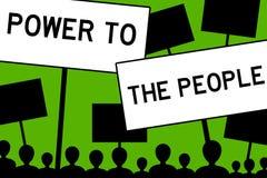 Potenza alla gente Fotografia Stock Libera da Diritti