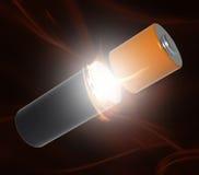 Potenza della batteria Fotografia Stock Libera da Diritti