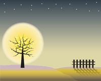Potenza della notte scura Fotografia Stock Libera da Diritti