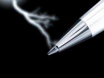 Potenza della penna immagini stock