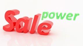 Potenza della vendita Fotografie Stock