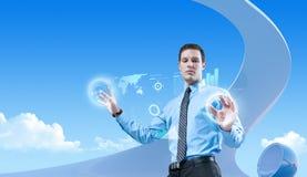 Potenza delle tecnologie future Immagini Stock Libere da Diritti