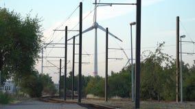 Potenza di Eco Turbine di vento che generano elettricità fotografie stock