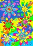 Potenza di fiore Groovy del Hippie Fotografie Stock