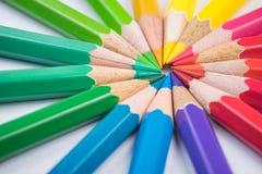 Potenza di fiore - matite fotografie stock libere da diritti