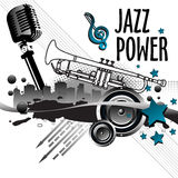 Potenza di jazz Immagini Stock