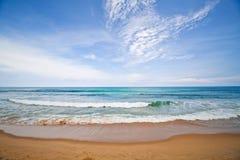 Potenza di mare in mattina di estate. Fotografia Stock