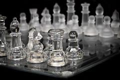 Potenza di scacchi - cristallo, vista dall'angolo Fotografia Stock Libera da Diritti