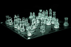 Potenza di scacchi - cristallo, vista dall'angolo Immagini Stock