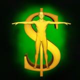 Potenza di soldi Fotografia Stock